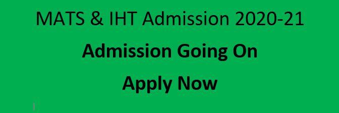 Mats IHT Admission Circular 2020