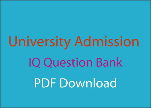 University Admission IQ Question Bank