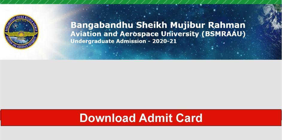 BSMRAAU Admit Card