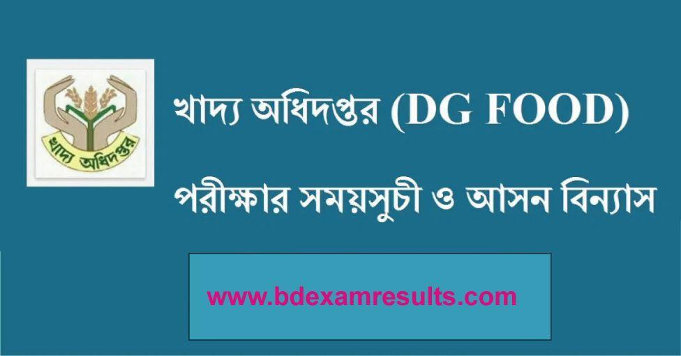 DGFOOD Exam Date