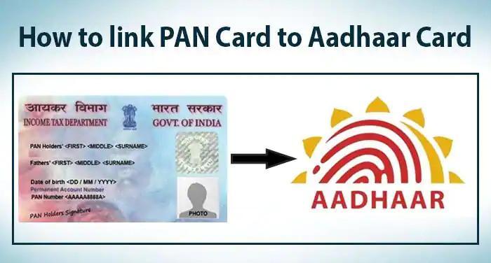 e filing pan card aadhaar link