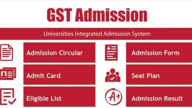 GST Admission Result 2021: