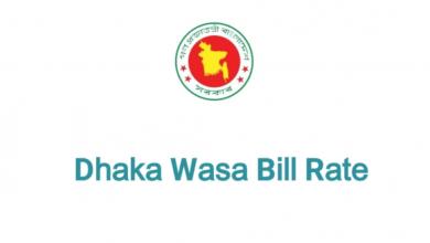 Dhaka WASA Bill Rate