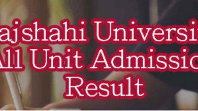 Rajshahi University A Unit Result